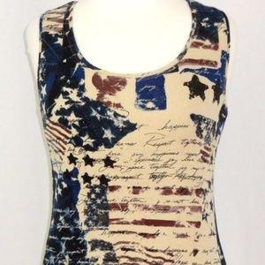 Chico's Patriotic / American Spirit Tank Top